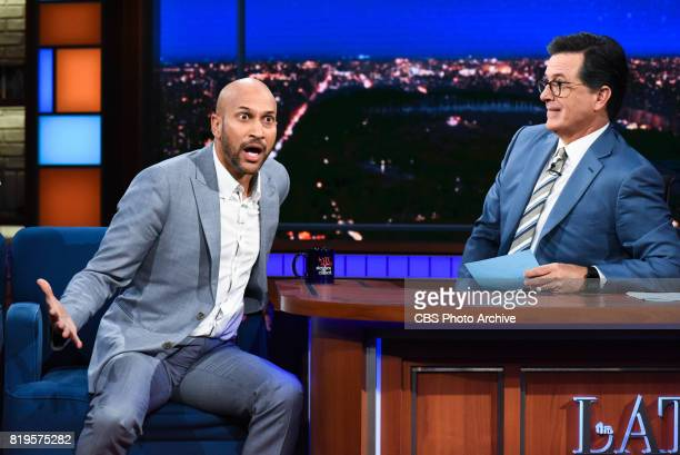 The Late Show with Stephen Colbert and guest KeeganMichael Key during Monday's July 18 2017 show
