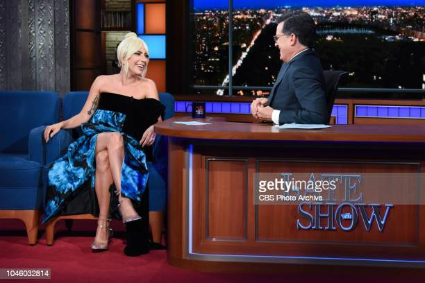 The Late Show with Stephen Colbert and guest Lady Gaga during Thursday's October 4 2018 show
