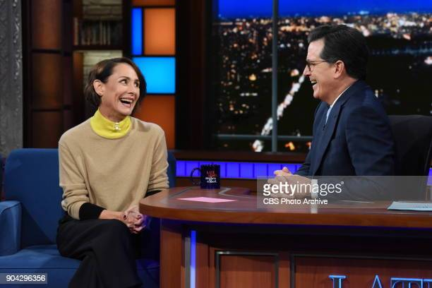 The Late Show with Stephen Colbert and guest Laurie Metcalf during Friday's January 12 2018 show
