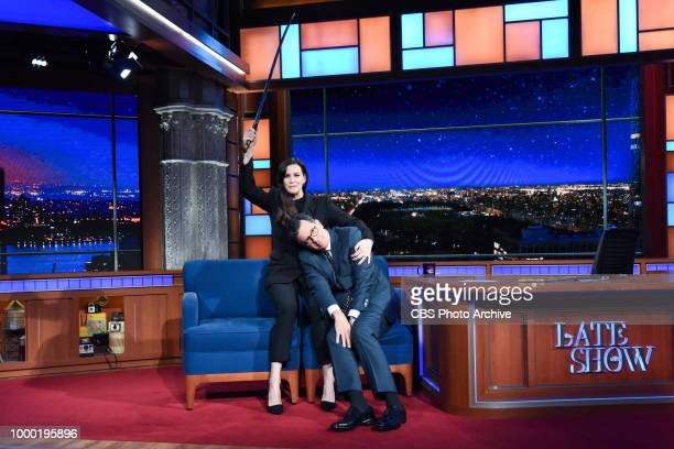 The Late Show with Stephen Colbert and guest Liv Tyler during Thursday's July 12 2018 show