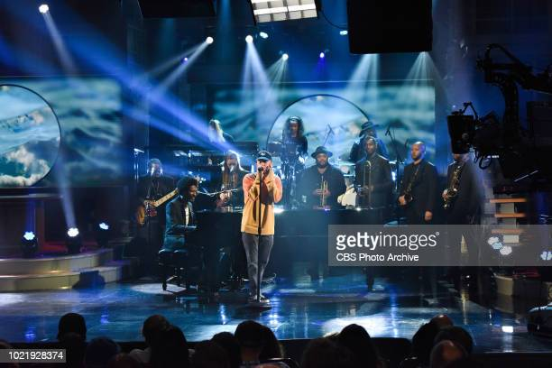 The Late Show with Stephen Colbert and guest Mac Miller and Jon Batiste with Stay Human during Monday's August 13 2018 show