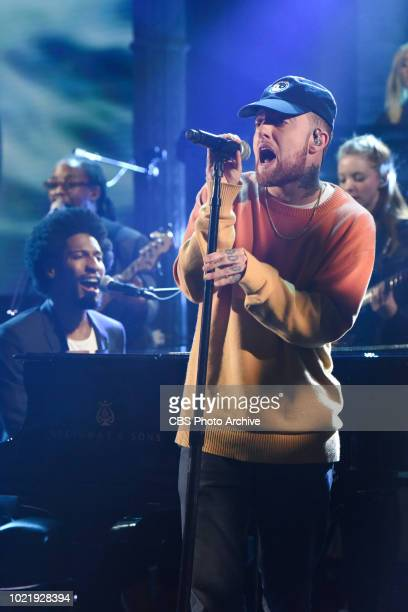 The Late Show with Stephen Colbert and guest Mac Miller and Jon Batiste with Stay Human during Monday's August 13, 2018 show.