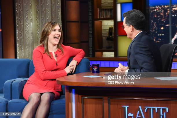 The Late Show with Stephen Colbert and guest Margaret Brennan during Wednesday's February 20 2019 show