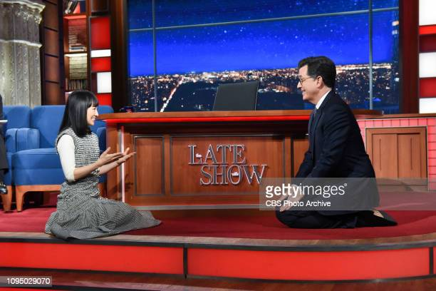 The Late Show with Stephen Colbert and guest Marie Kondo during Monday's February 4 2019 show