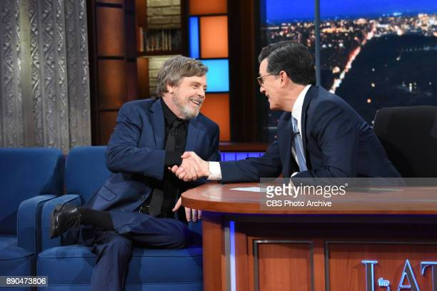 The Late Show with Stephen Colbert and guest Mark Hamill during Friday's December 8 2017 show