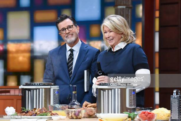 The Late Show with Stephen Colbert and guest Martha Stewart during Wednesday's September 12 2018 show