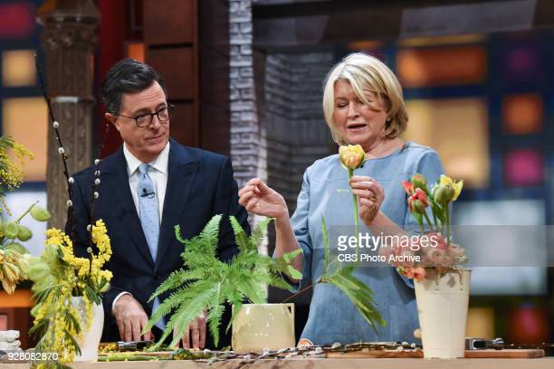 The Late Show with Stephen Colbert and guest Martha Stewart during Monday's March 5 2018 show