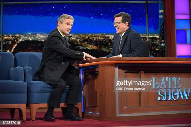 The Late Show with Stephen Colbert and guest Martin Freeman during Friday's 12/09/16 show in New York