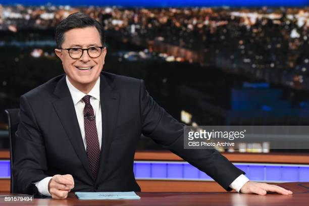 The Late Show with Stephen Colbert and guest Matt Damon during Monday's December 11 2017 show