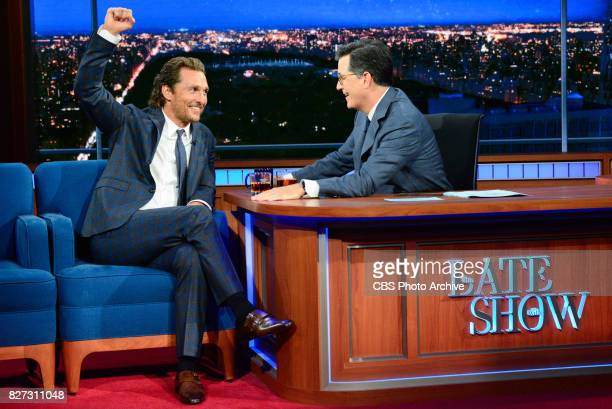 The Late Show with Stephen Colbert and guest Matthew McConaughey during Monday's July 31 2017 show