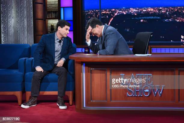 The Late Show with Stephen Colbert and guest Max Brooks during Tuesday's July 25 2017 show
