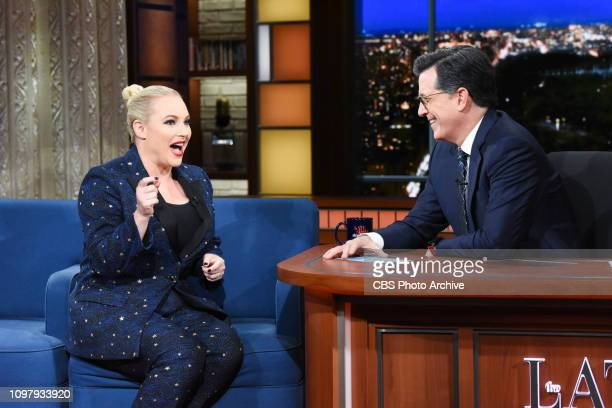 The Late Show with Stephen Colbert and guest Meghan McCain during Thursday's February 7 2019 show