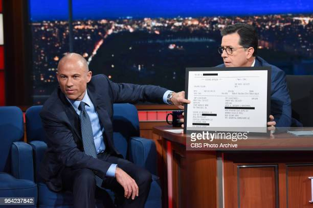 The Late Show with Stephen Colbert and guest Michael Avenatti during Wednesday's May 2 2018 show