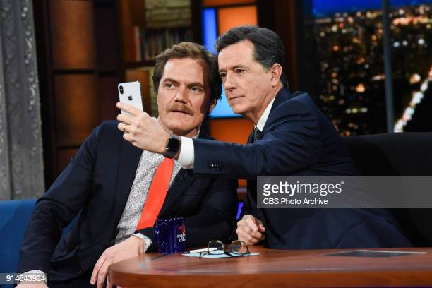 The Late Show with Stephen Colbert and guest Michael Shannon during Thursday's February 1 2018 show