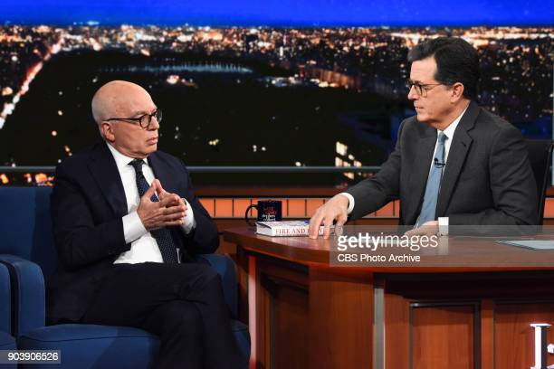 The Late Show with Stephen Colbert and guest Michael Wolff during Monday's January 8 2018 show