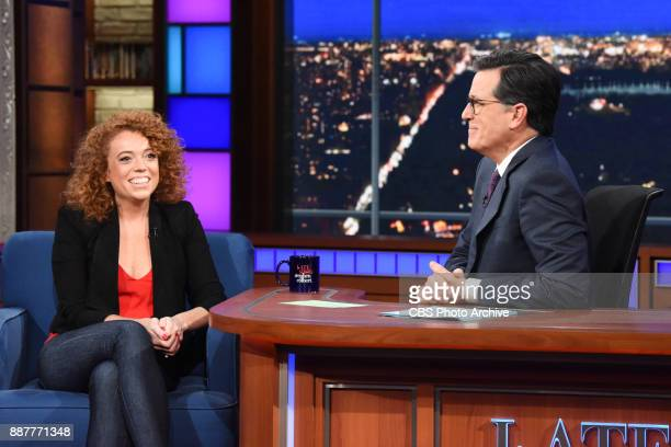The Late Show with Stephen Colbert and guest Michelle Wolf during Tuesday's December 5 2017 show