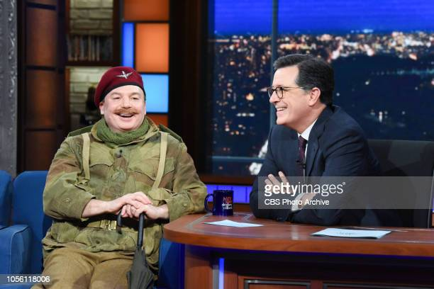 The Late Show with Stephen Colbert and guest Mike Myers during Wednesday's October 31 2018 show