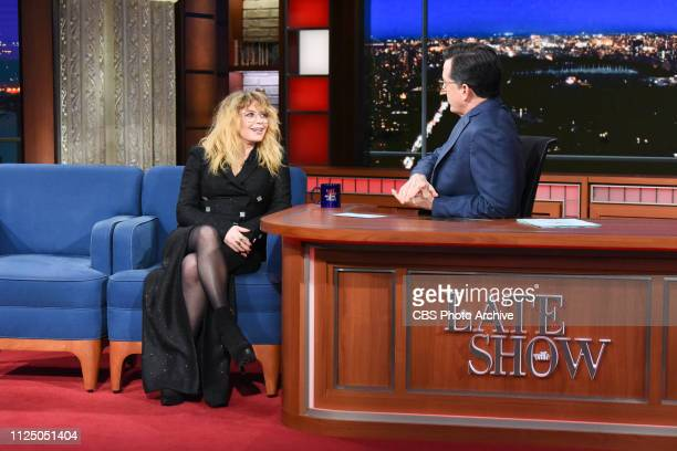 The Late Show with Stephen Colbert and guest Natasha Lyonne during Wednesday's February 13 2019 show