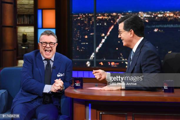 The Late Show with Stephen Colbert and guest Nathan Lane during Friday's February 9 2018 show