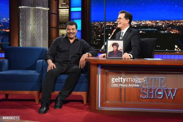 The Late Show with Stephen Colbert and guest Neil deGrasse Tyson during Tuesday's October 3 2017 show