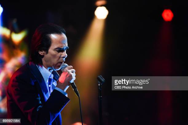 The Late Show with Stephen Colbert and guest Nick Cave and the Bad Seeds during Tuesday's June 13 2017 show