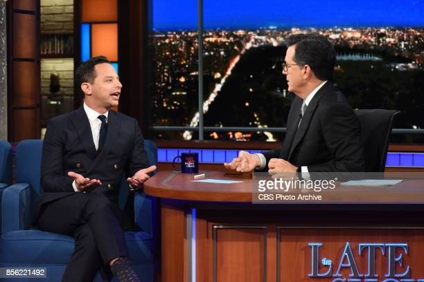 The Late Show with Stephen Colbert and guest Nick Kroll during Wednesday's September 27 2017 show
