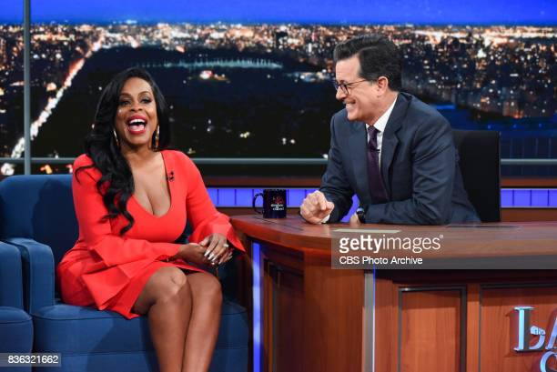 The Late Show with Stephen Colbert and guest Niecy Nash during Wednesday's August 9 2017 show