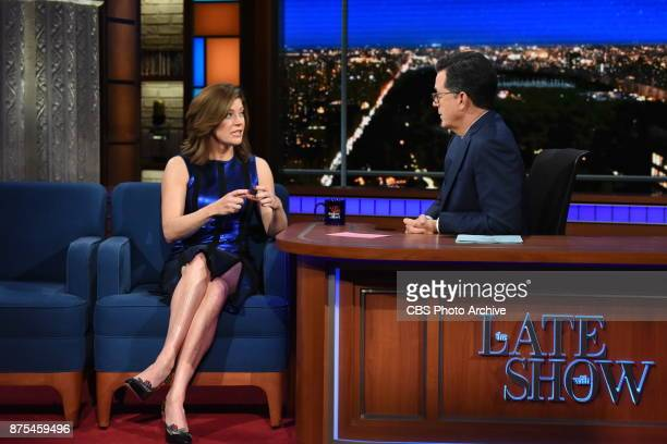 The Late Show with Stephen Colbert and guest Norah O'Donnell during Friday's November 17 2017 show