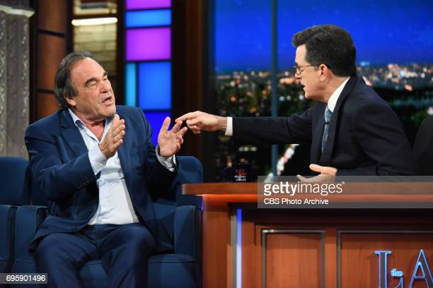 The Late Show with Stephen Colbert and guest Oliver Stone during Monday's June 12 2017 show