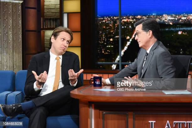 The Late Show with Stephen Colbert and guest Pete Holmes during Wednesday's January 16 2019 show