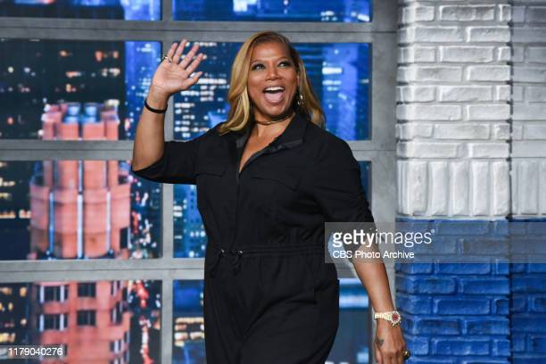 The Late Show with Stephen Colbert and guest Queen Latifah during Monday's October 28, 2019 show.