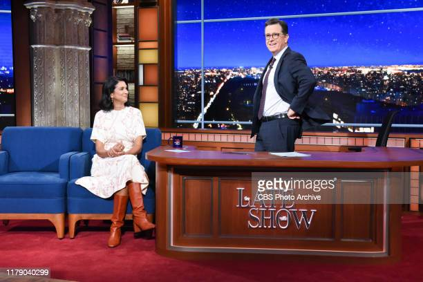 The Late Show with Stephen Colbert and guest Radhika Jones during Monday's October 28 2019 show