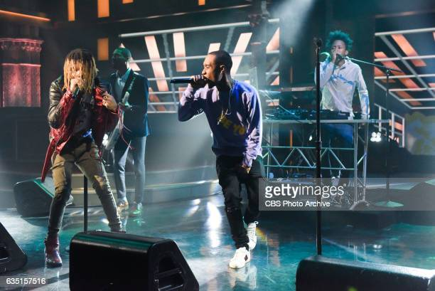 The Late Show with Stephen Colbert and guest Rae Sremmurd during Thursday's 2/9/17 show in New York