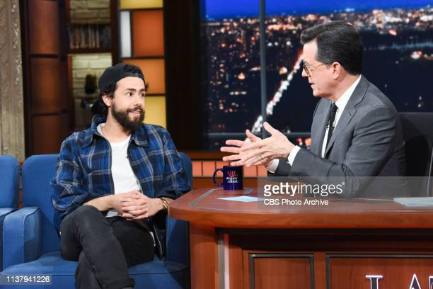 The Late Show with Stephen Colbert and guest Ramy Youssef during Tuesday's April 16 2019 show