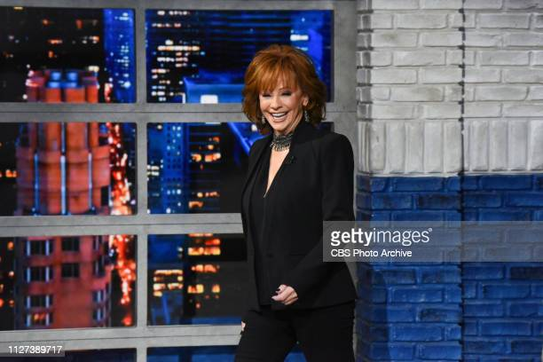 The Late Show with Stephen Colbert and guest Reba McEntire during Wednesday's February 20 2019 show
