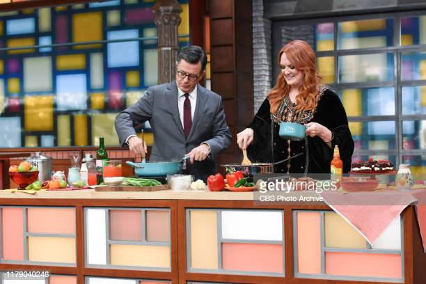 The Late Show with Stephen Colbert and guest Ree Drummond during Friday's October 25, 2019 show.