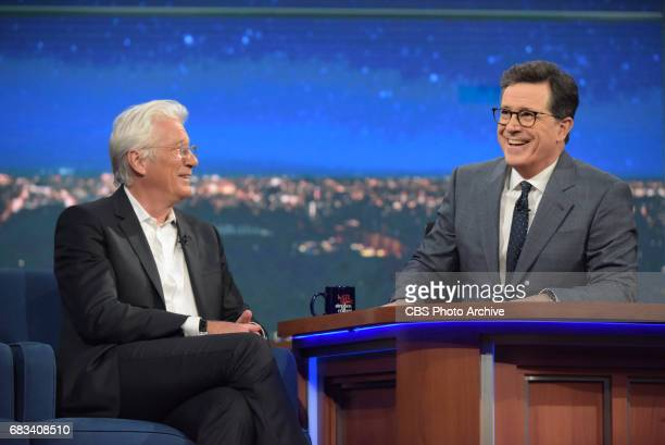 The Late Show with Stephen Colbert and guest Richard Gere during Friday's May 5 2017 show