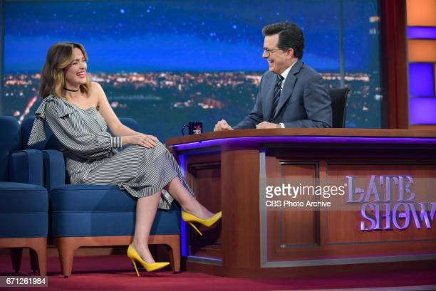 The Late Show with Stephen Colbert and guest Rose Byrne during Wednesday's 4/19/20 show