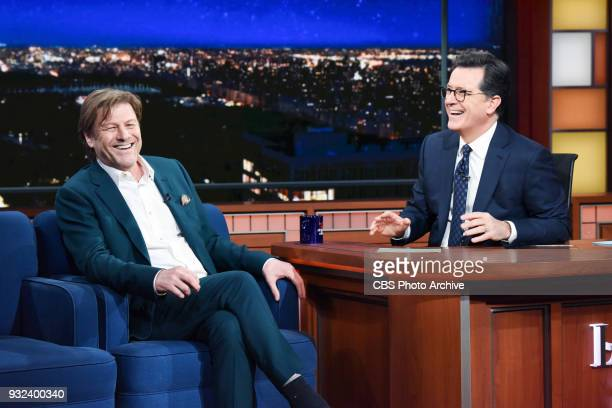 The Late Show with Stephen Colbert and guest Sean Bean during Wednesday's March 14 2018 show