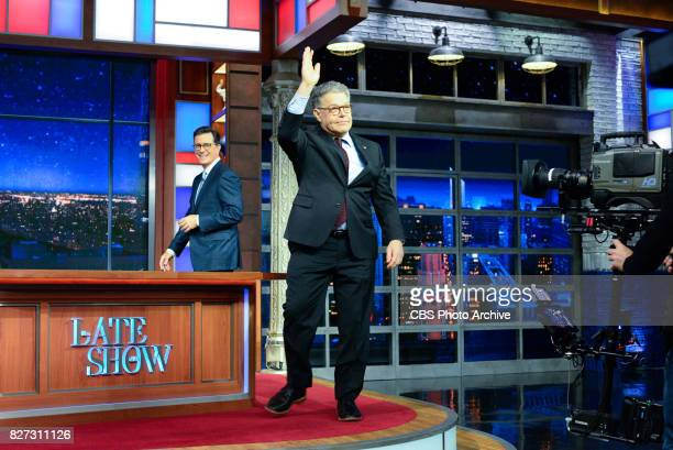 The Late Show with Stephen Colbert and guest Sen Al Franken during Tuesday's August 1 2017 show
