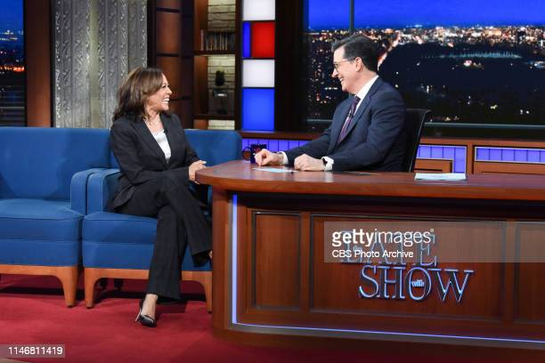 The Late Show with Stephen Colbert and guest Sen Kamala Harris during Wednesday's May 22 2019 show