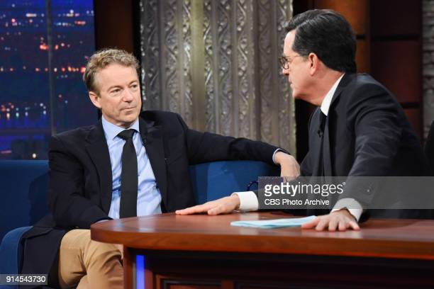 The Late Show with Stephen Colbert and guest Sen Rand Paul during Wednesday's January 31 2018 show