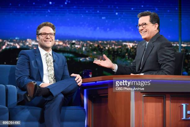 The Late Show with Stephen Colbert and guest Seth Rogen during Monday's June 19 2017 show