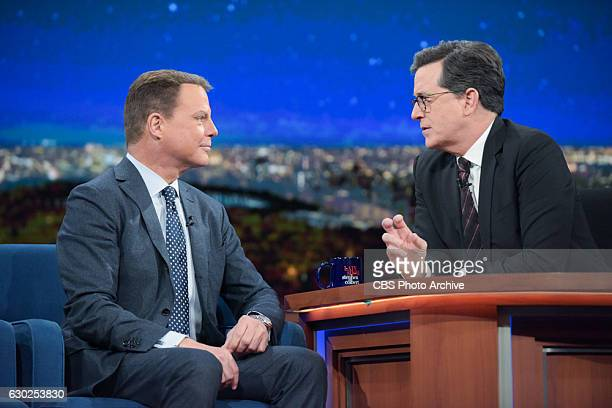 The Late Show with Stephen Colbert and guest Shepard Smith during Friday's 12/16/16 show in New York