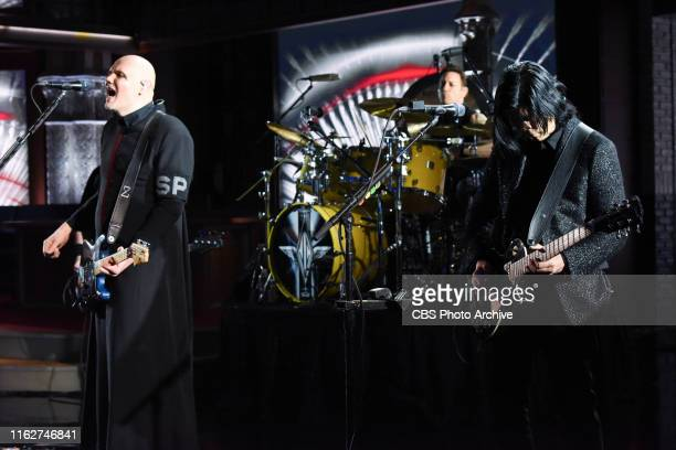 The Late Show with Stephen Colbert and guest Smashing Pumpkins during Thursday's August 7 2019 show
