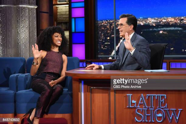 The Late Show with Stephen Colbert and guest Sonequa MartinGreen during Wednesday's September 6 2017 show