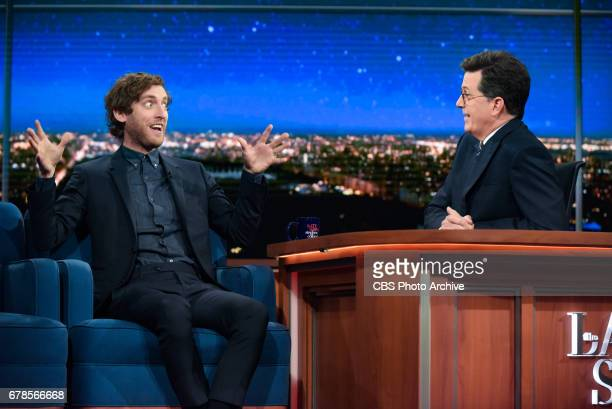 The Late Show with Stephen Colbert and guest Thomas Middleditch during Wednesday's 4/26/20 show