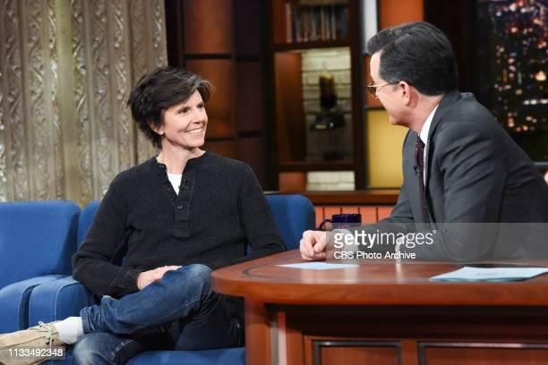 The Late Show with Stephen Colbert and guest Tig Notaro during Wednesday's March 27 2019 show
