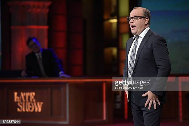 The Late Show with Stephen Colbert and guest Tom Papa during Friday's 12/09/16 show in New York