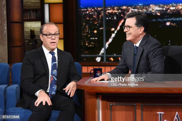 The Late Show with Stephen Colbert and guest Tom Papa during Tuesday's June 12 2018 show